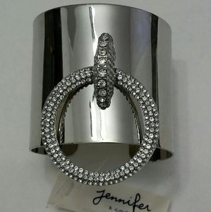 Door Knocker Silver Rhinestones Cuff